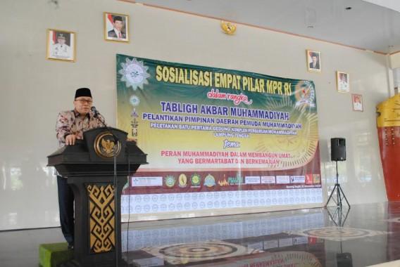 Ketua MPR Zulkifli Hasan menyosialsiasikan Empat Pilar Kebangsaan di Nuwo Balak Lampung Tengah, Minggu, 1/11/2015. | Ist