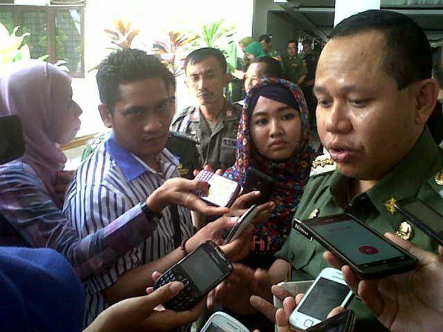 Hujan Deras, Genangan Air Mulai Menggangu Aktifitas Warga Bandar Lampung