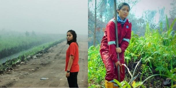 Inilah Intan Syafrini Fazrianti, Relawan Kabut Asap di Kalimantan