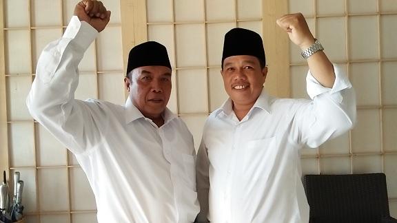 Pasangan nomor urut 1 Lampung Tengah, Samidjo - Fatoni. | Raeza/Jejamo.com