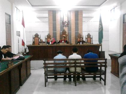 Sidang kasus pencurian APK dengan terdakwa tiga mahasiswa Unila | Sugiono/jejamo.com
