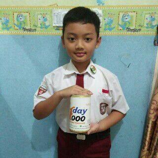 Siswa SD Persit Akhdan Alfiy Aqila gemar bersedekah dan ikutan program Sehari Rp1.000 atau One Dau One Thousand (ODOT) yang digagas Yatim Mandiri Lampung. | Ist