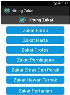 Salah satu tampilan aplikasi penghitung zakat karya mahasiswa Darmajaya. | Ist.