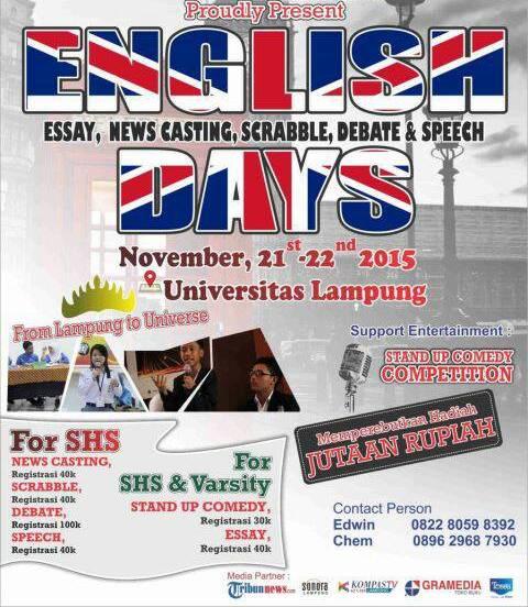 UKM ESo Universitas Lampung menggelar English Day yang merupakan  lomba Bahasa Inggris se-Lampung. | Dok.