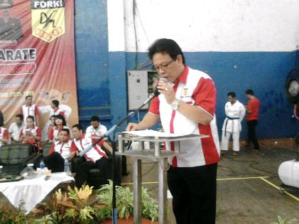 694 Atlet Bersaing Dalam Kejurda Karate Bandar Lampung