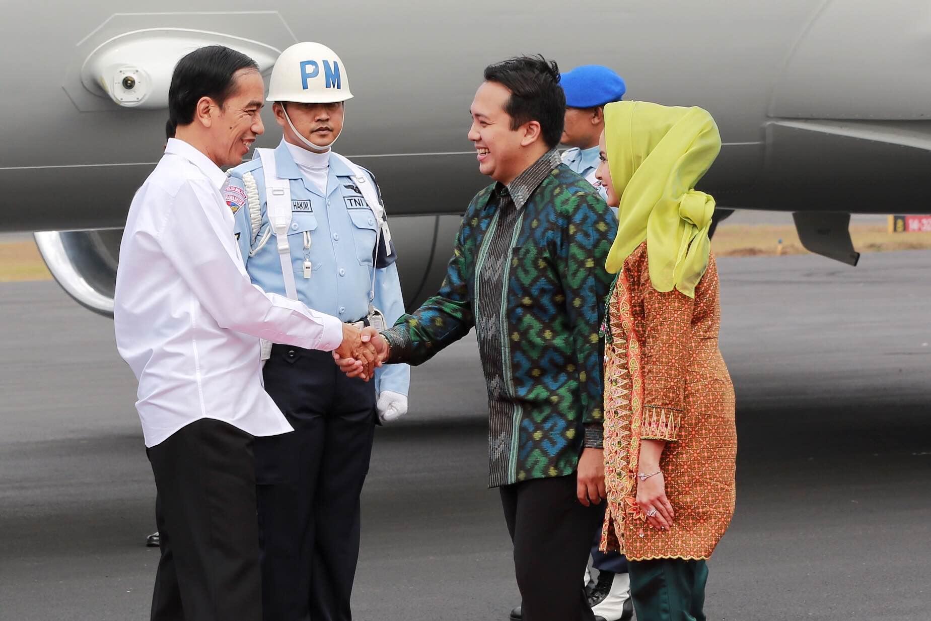 Presiden Jokowi Tiba di Lampung