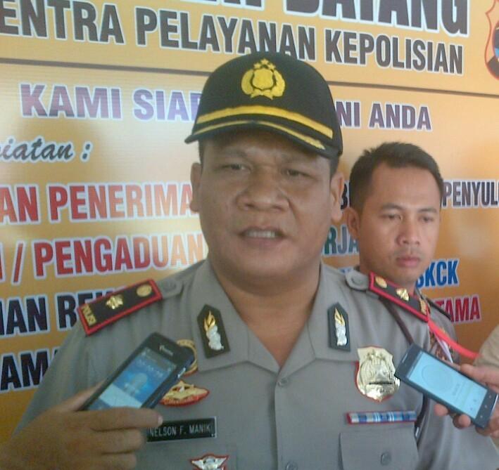 Kapolsek Terbanggi Besar, Kompol Nelson F Manik. | Raeza/Jejamo.com