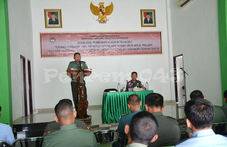 Tim Dirfasjasa Kemhan melakukan sosialisasi Permenhan Nomor 44 Tahun 2013 Selasa 03/11/2015. | Ist.