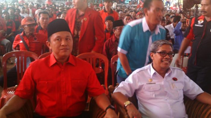 Calon Bupati dan Wakil Bupati Lampung Tengah, Mustafa - Loekman. | ist