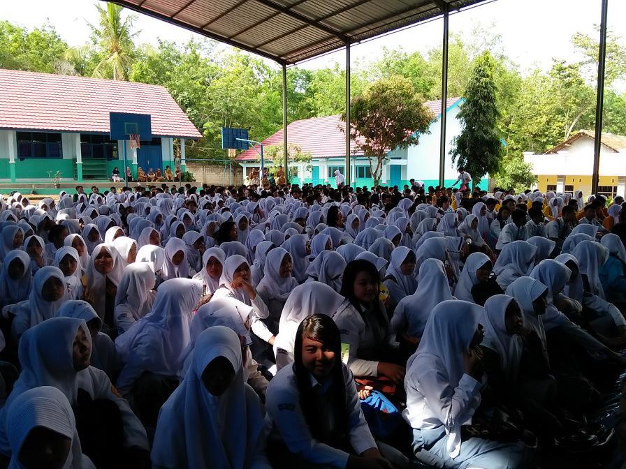 Ratusan Pelajar Hadiri Kampanye Anti Narkoba Lampung Tengah