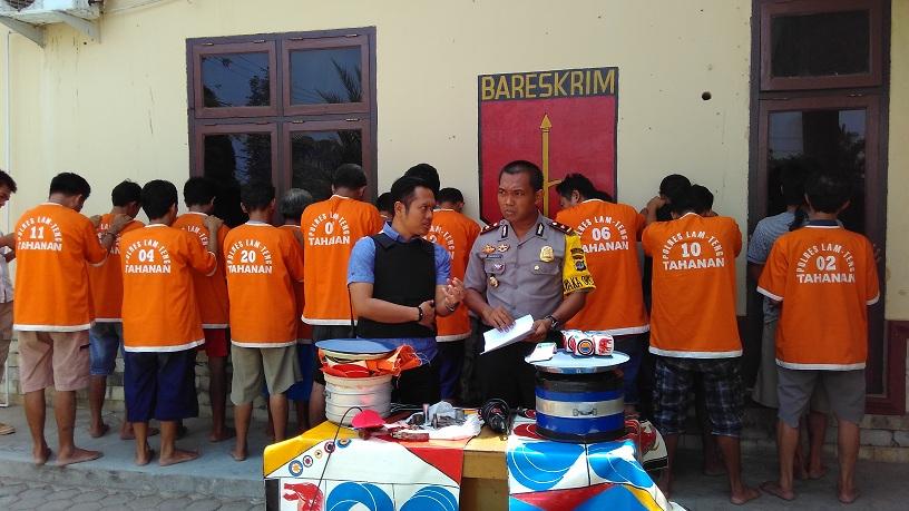 Seminggu, Polres Lampung Tengah Amankan 18 Penjudi