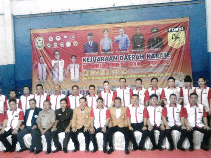 Inilah Pengurus Forki Bandar Lampung Periode 2015-2019