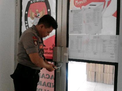 Pengamanan surat suara Pilwakot Bandar Lampung akan dilakukan oleh Polresta Bandar Lampung. | Sugiono/Jejamo.com