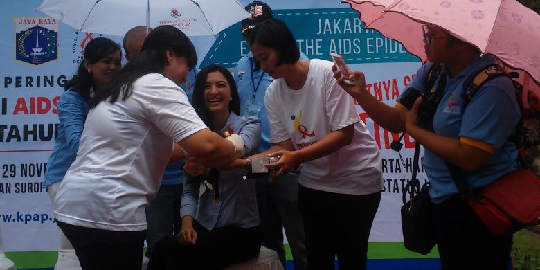 Raline Shah jalani tes darah untuk HIV. | Ist.