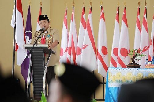 Gubernur Lampung Ridho Ficardo membuka acara Musyawarah Daerah XIV Gerakan Pramuka Lampung, Senin 03/11/2015. | Ist.