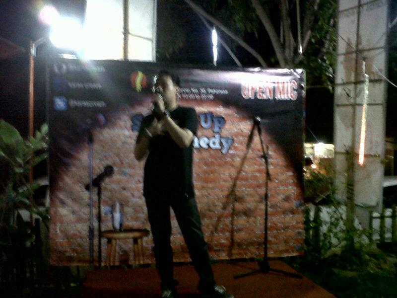 Tarik Minat Pengunjung, Karas Cream Bandar Lampung Gelar Standup Comedy