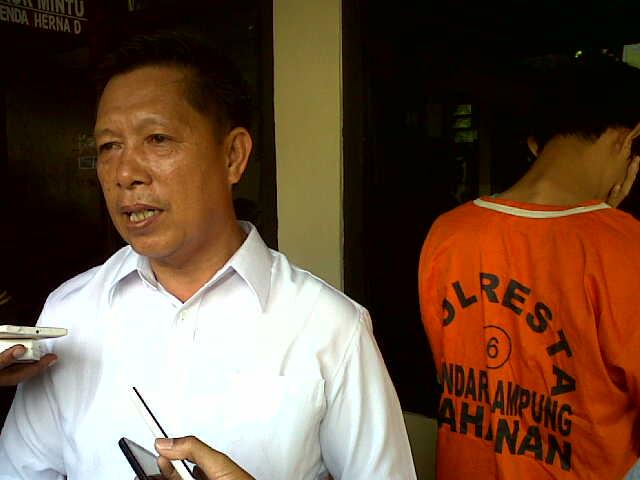Kanit 1 Satres Narkoba Bandar Lampung, Iptu Herlan Arfa. | Andi/Jejamo.com