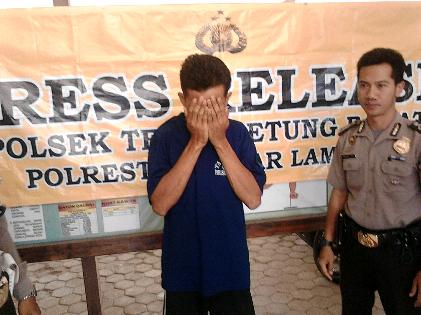 Dedi Irawan (34) tersangka pemerkosaan anak kandungnya yang masih balita | Sugiono/jejamo.com