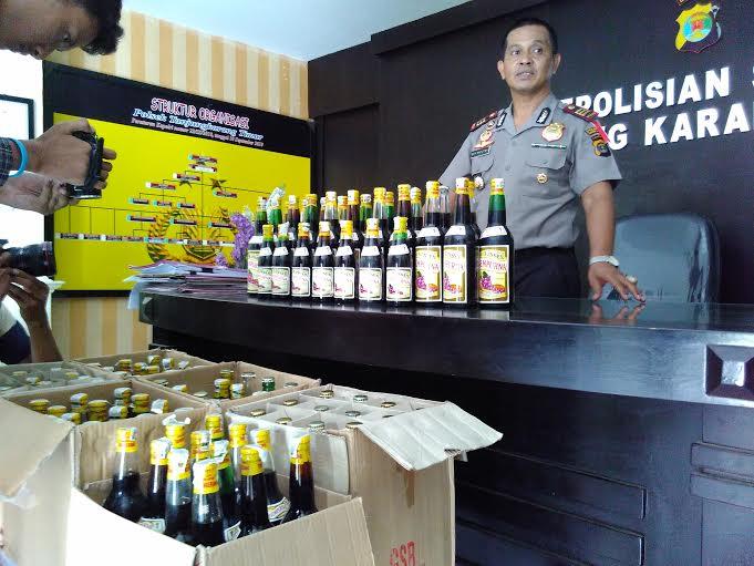 Polres Lampung Timur Sita Puluhan Ribu Botol Miras