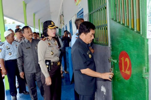 Pj Walikota Metro Tinjau Warga Binaan Lapas