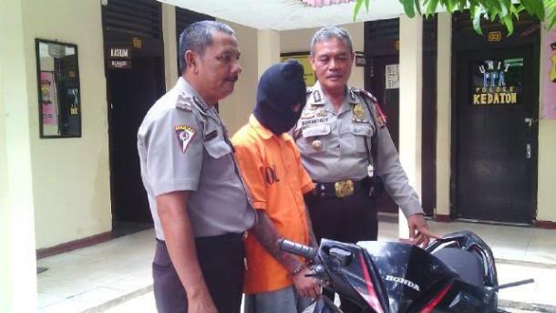 DPO Pencurian Sepeda Motor Dibekuk Saat Tidur Lelap