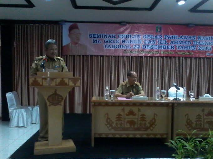Eks Residen Lampung Mr Gele Harun Jadi Pahlawan Nasional Butuh Eksplorasi