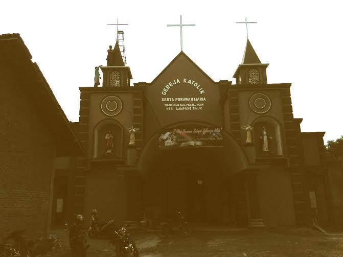 Gereja Katolik Santa Perawan Maria Lampung Timur | Wahyu/jejamo.com