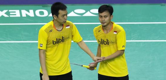 Pasangan ganda putra Indonesia Hendra - Aksan | Badmintonindonesia.org
