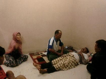 Sunarto korban kebakaran Sumur Putri syok | Sugiono/jejamo.com