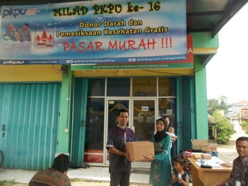 Milad Ke-16, PKPU Lampung Gelar Pasar Murah