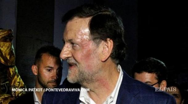 Seorang Remaja Pukulan Wajah PM Spanyol Mariano Rajoy Hingga Memerah
