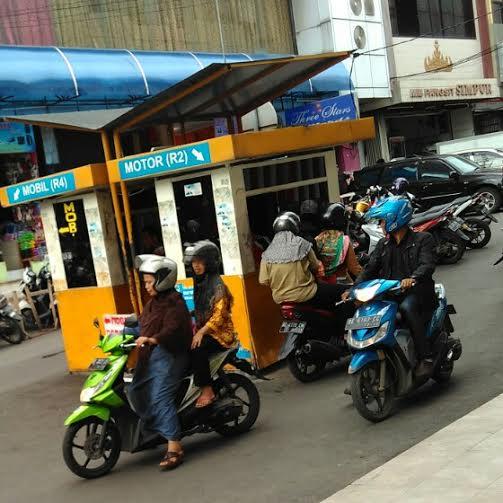 Loket parkir Pasar Tengah Bandar Lampung | Andi/jejamo.com