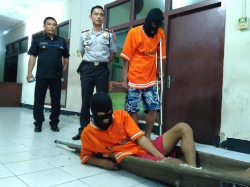 2 Pemecah Kaca Mobil di Bandar Lampung  Ditangkap, Kakinya Ditembak