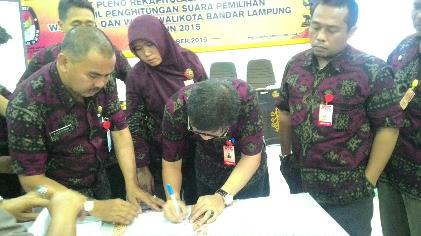 Sah…Herman HN Peraih Suara Terbanyak Pilkada Bandar Lampung