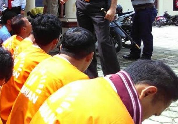 Kawanan pencuri pintu air diamankan Polres Lampung Tengah | Raeza/jejamo.com
