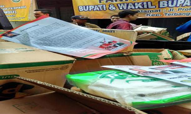 Panwaslu Lampung Tengah Kembali Temukan Sembako Diduga dari Gunadi-Imam Suhadi