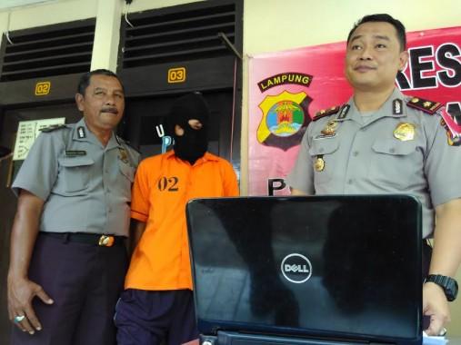 Tersangka Pencuri Laptop di Bandar Lampung Terancam Penjara 7 Tahun
