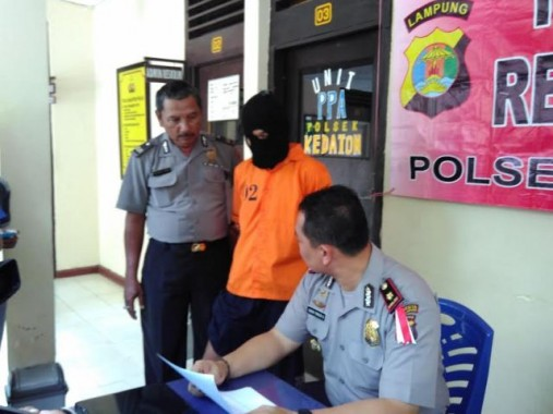 Pencuri Laptop Ditembak Anggota Polsek Kedaton Tiga Kali Beraksi