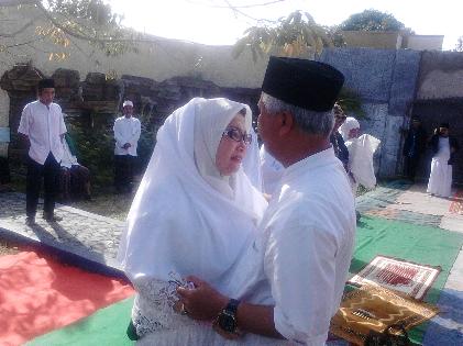 Sebelum Nyoblos, Calon Wali Kota Bandar Lampung Tobroni Harun Istigasah
