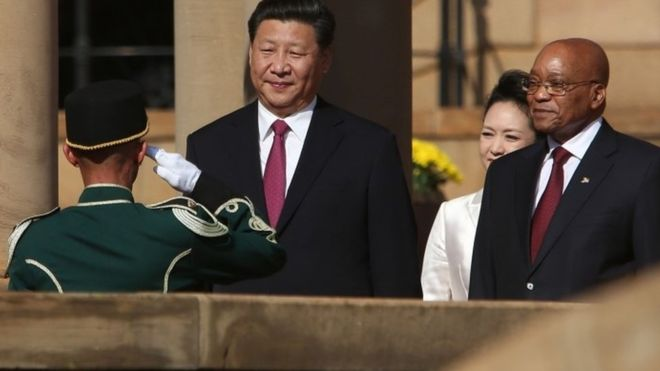Presiden China Xi Jinping dan Jacob Zuma | AFP