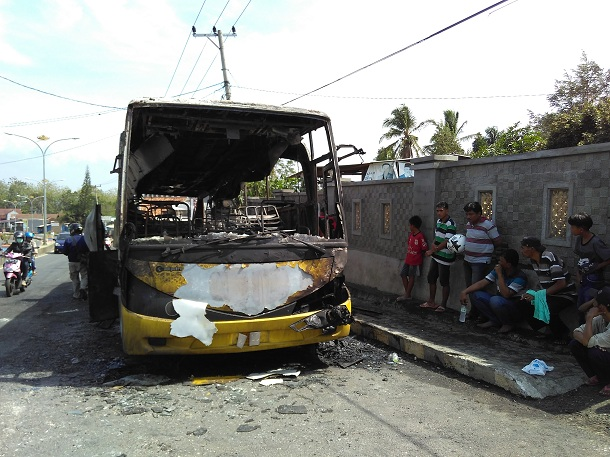 Kebakaran Bus Disebabkan Arus Pendek Listrik