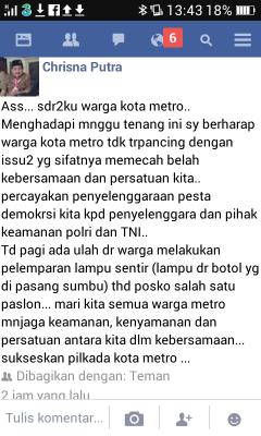 KPU Lampung Timur: Siapapun Calon yang Tepilih Semua Harus Legowo