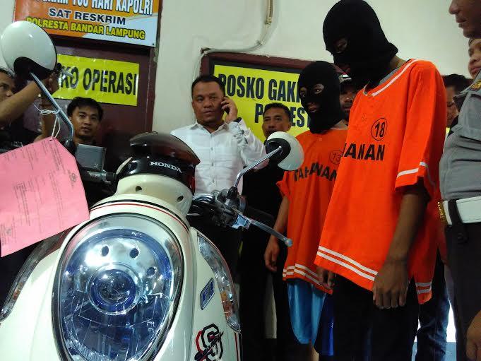 Terlibat Aksi Curanmor, Dua ABG Asal Lampung Timur Dibekuk Polisi