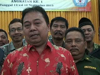 Sekretaris Dispora Lampung Timur, Sukarwin. | Bilqis/Jejamo.com
