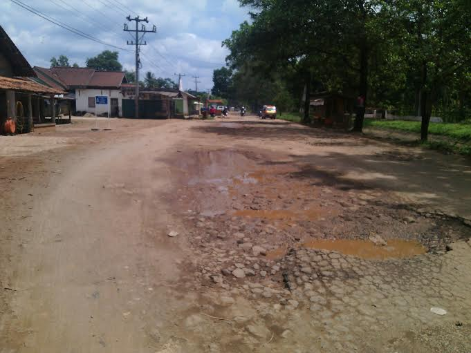 Jalan Poros Kecamatan Sekampung Lamtim Rusak Parah, Warga Harapkan Perbaikan