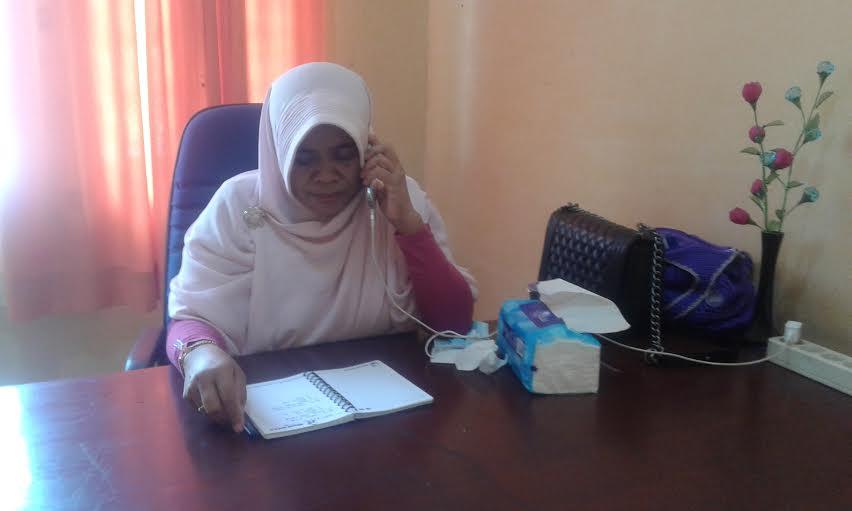Divisi Humas Data dan Informasi KPU Lampung Selatan, Titik Sutriningsih. | Heri/Jejamo.com