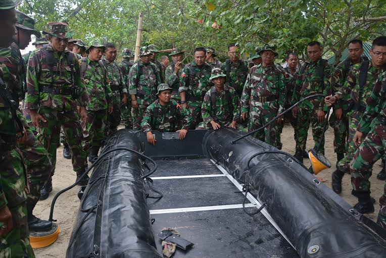 Antisipasi Bencana, 400 Prajurit Korem 043 Latihan Penanggulangan Bencana Alam