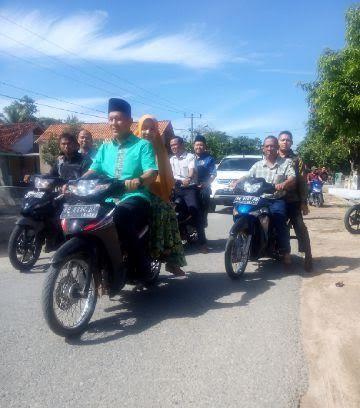 Brrmm...Brrmm...Mustafa Naik Motor Menuju TPS Bumiaji Lampung Tengah