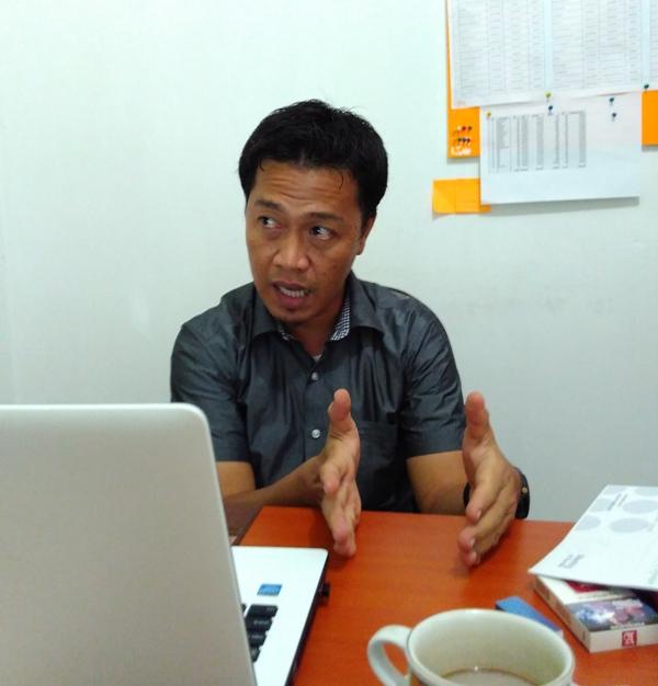 Anggota Panwas Bandar Lampung Devisi SDM dan Organisasi, Vierzain. | Andi/Jejamo.com