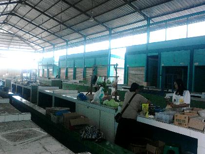 Beginilah kondisi Pasar Kemiling Bandar Lampung, sepi nyaris tidak ada aktivitas jual beli. | Sugiono/Jejamo.com